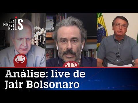 Comentaristas analisam live de Bolsonaro de 23/07/20