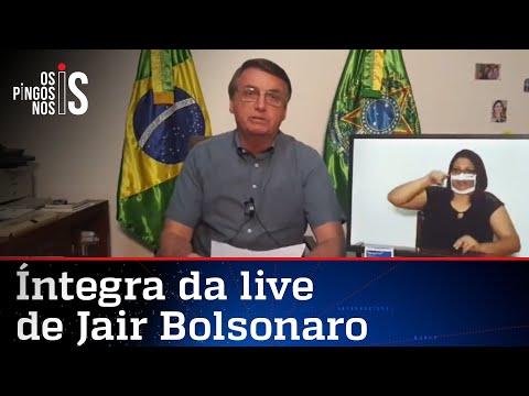 Íntegra da live de Jair Bolsonaro de 23/07/20