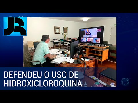 Presidente Bolsonaro se recupera da covid-19 e despacha por videoconferência