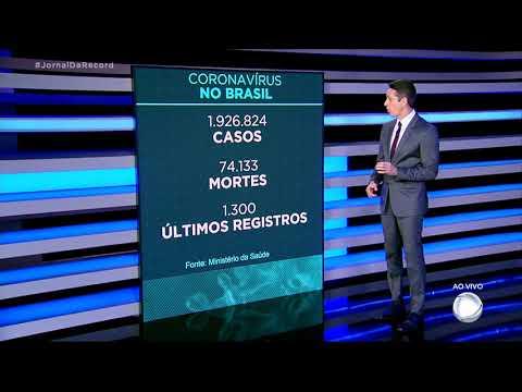 Brasil registra 1.300 mortes por covid-19 nas últimas 24 horas