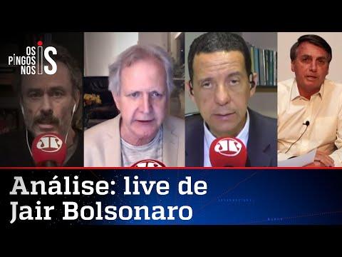 Comentaristas analisam live de Bolsonaro