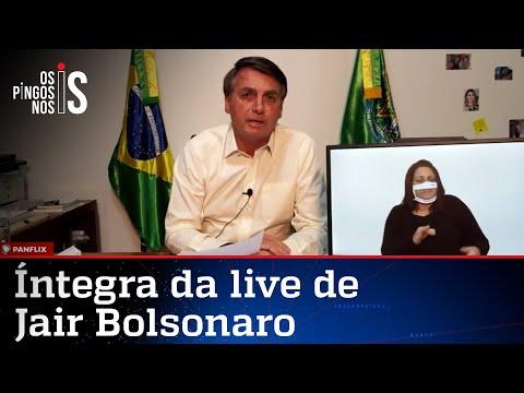 Íntegra da live do presidente Jair Bolsonaro de 16/07/20