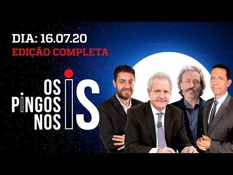 Os Pingos Nos Is – 16/07/20 – COMENTARISTAS NA LIVE / POSSE DE MILTON RIBEIRO / CRISE DA COVID-19