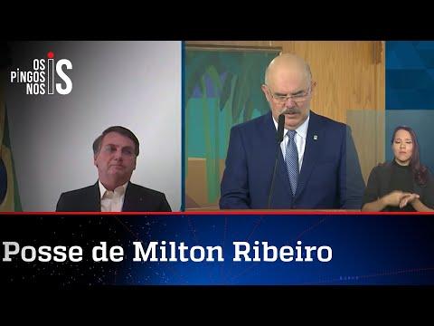 Bolsonaro discursa na posse do novo ministro da Educação