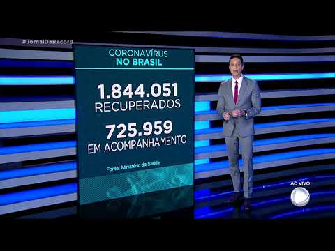 Coronavírus: Brasil tem 92.475 mortos, com 1.212 óbitos nas últimas 24 horas