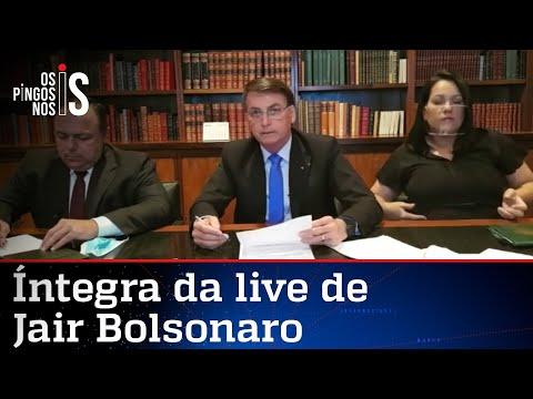 Íntegra da live de Jair Bolsonaro de 06/08/20