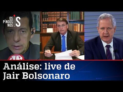 Comentaristas analisam live de Bolsonaro de 06/08/20