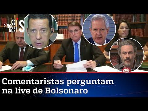 EXCLUSIVO: Entrevista durante a live de Jair Bolsonaro de 06/08/20