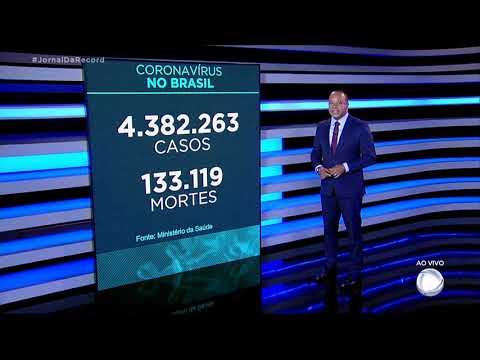 Coronavírus: Brasil registra 133.119 mortes, 1.113 nas últimas 24 horas