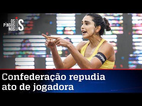 Atleta usa premiação para fazer militância anti-Bolsonaro