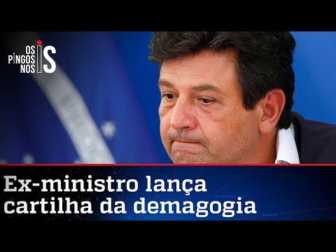 Em livro, Mandetta tenta jogar os próprios erros no colo de Bolsonaro