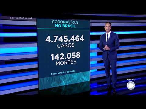 Coronavírus: Brasil registra 142.058 mortes, 317 nas últimas 24 horas