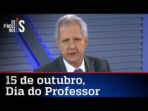 Augusto Nunes faz homenagem aos professores