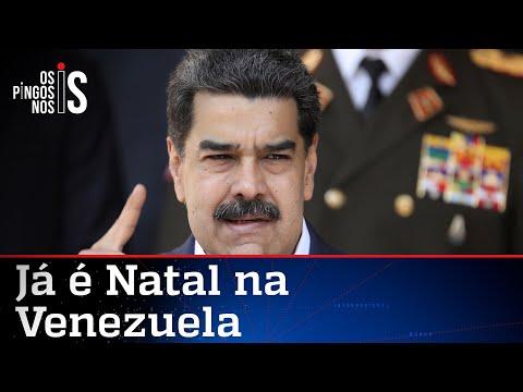 Ditador Nicolás Maduro antecipa Natal na Venezuela
