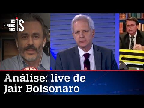 Comentaristas analisam a live de Jair Bolsonaro de 22/10/20