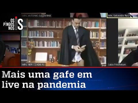 Ministro do STJ aparece sem calças em julgamento; assista ao vídeo
