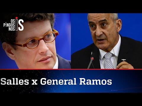Salles chama general Ramos de Maria Fofoca do governo