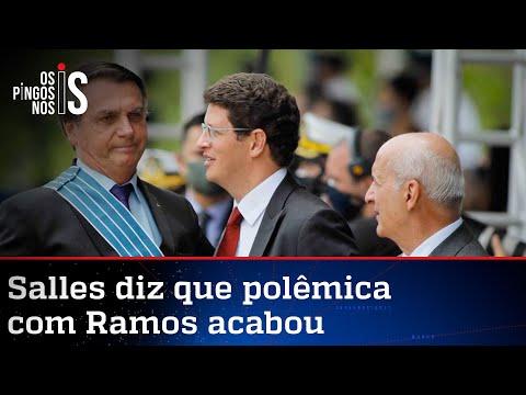 Bolsonaro ajuda a selar paz entre Salles e Ramos