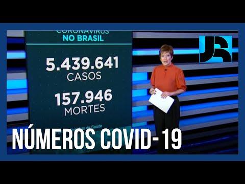 Coronavírus: Brasil registra 157.946 mortes, 549 nas últimas 24 horas