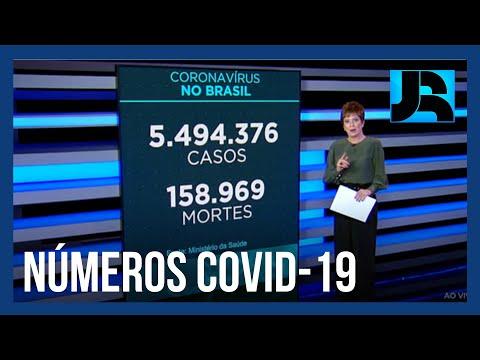Coronavírus: Brasil chega a 158.969 mortes, 513 nas últimas 24 horas