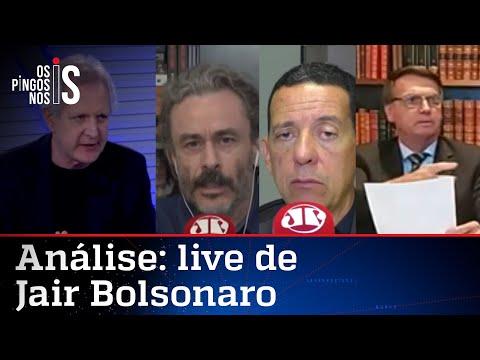 Comentaristas analisam live de Jair Bolsonaro de 26/11/20