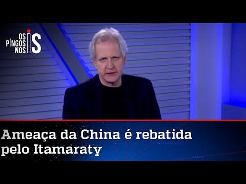 Augusto Nunes: China é ditadura e ditadura tem que ser tratada como tal