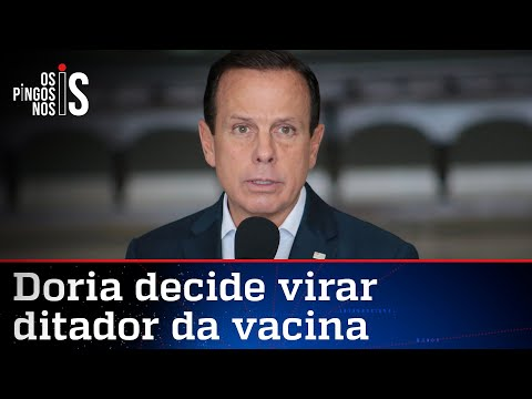 Doria quer vacina chinesa mesmo sem registro da Anvisa
