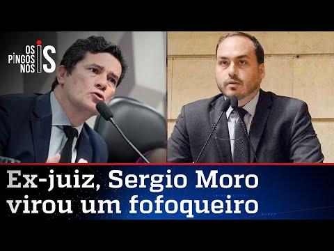 """Moro tenta atacar Carlos Bolsonaro e cita """"gabinete do ódio"""""""