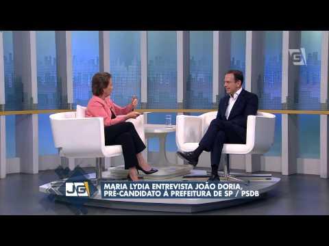 Maria Lydia entrevista João Doria Jr., pré-candidato à Prefeitura de SP/PSDB