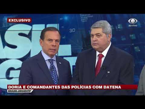 Datena entrevista governador de São Paulo, João Doria