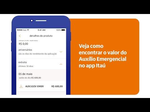 Veja como encontrar o valor do Auxílio Emergencial no app Itaú