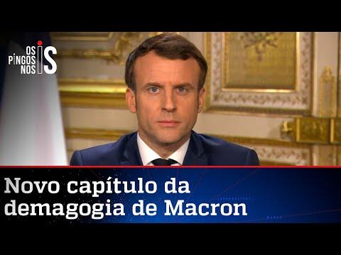 Macron volta a atacar o Brasil e a Amazônia