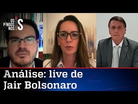 Comentaristas analisam live de Jair Bolsonaro de 14/01/21