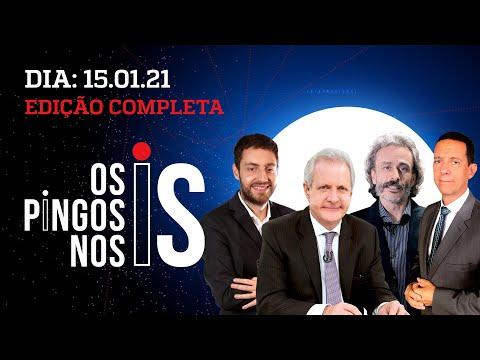 Os Pingos Nos Is – 15/01/21 – ENTREVISTA COM BOLSONARO/ DORIA E MAIA X PRESIDENTE/ BLM NO CAPITÓLIO