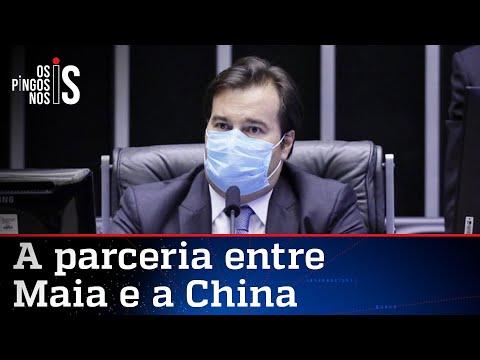Maia tem encontro com embaixador da China sobre vacina