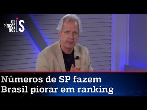 Augusto Nunes: Estado de SP fracassou na luta contra o vírus