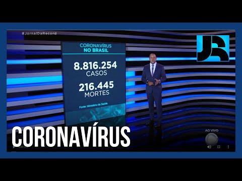Coronavírus: Brasil ultrapassa 216 mil mortos, 1.202 nas últimas 24 horas