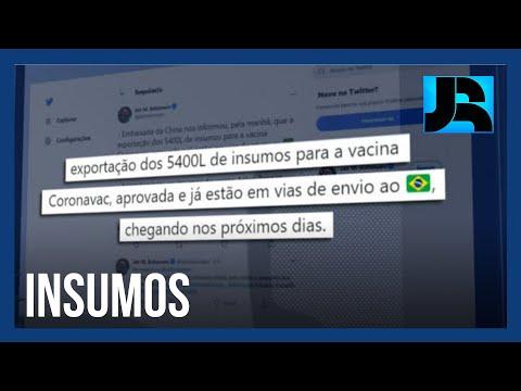 Bolsonaro anuncia que matéria-prima para as vacinas chega ao país nos próximos dias