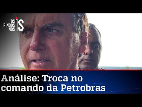 Bolsonaro critica presidente da Petrobras: 11 meses em casa