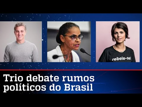 Huck, Marina e Manuela D'Ávila participam de debate