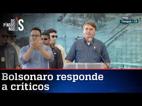 """Bolsonaro rebate críticos: """"Não vou desistir, porque sou imbrochável"""""""