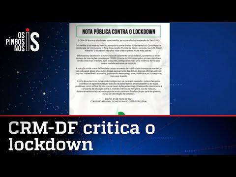 Médicos lançam nota contra o lockdown