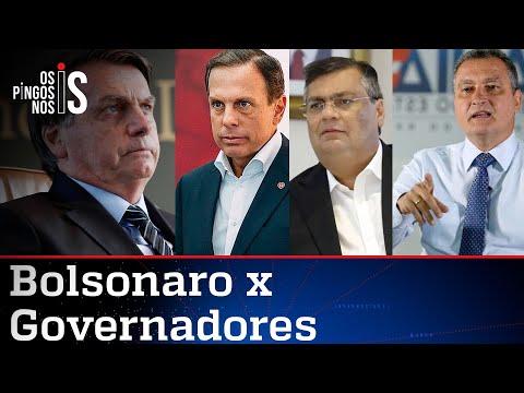 Governadores se unem para atacar Bolsonaro