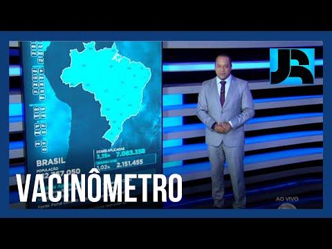 Vacinômetro: 1,02% da população brasileira já recebeu a segunda dose