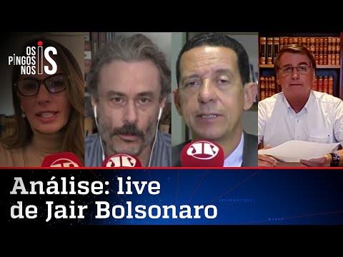 Comentaristas analisam a live de Jair Bolsonaro de 04/03/21