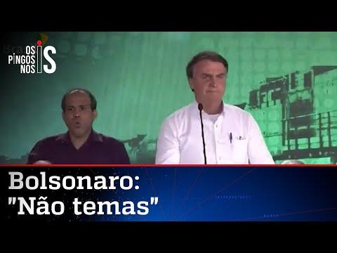 Bolsonaro cita a Bíblia e pede coragem durante a pandemia