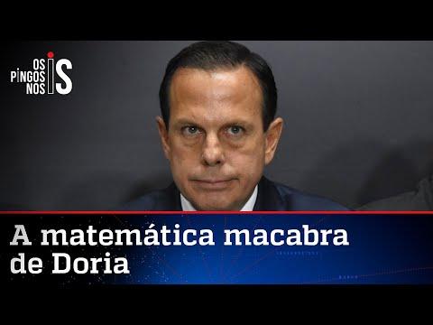 Doria erra a conta e dobra número de infectados por Covid no Brasil