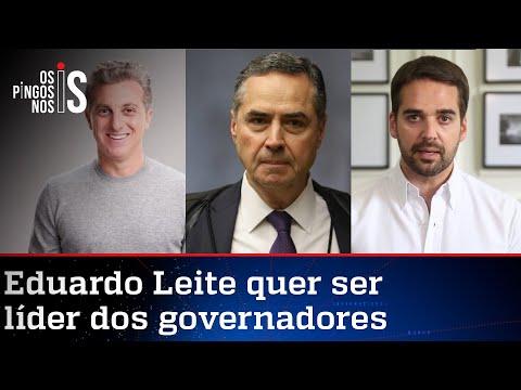 Barroso, Huck e Leite alinham discurso contra Bolsonaro